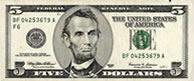 Banconota da 5 dollari